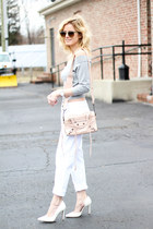 silver Topshop top - white Silver Jeans jeans - light pink balenciaga bag