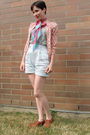 Blue-bcbg-shorts-silver-joe-fresh-style-t-shirt-pink-joe-fresh-style-cardiga