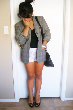 ann taylor blazer - Express Jeans shorts - Kenneth Cole watch