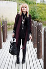 Black-creepers-underground-shoes-black-diy-bag-black-velvet-blouse