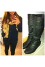 Black-papaya-boots-black-cotton-on-leggings-camel-frock-stock-scarf