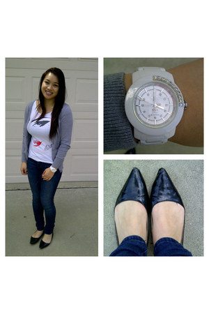 H&M shirt - PacSun jeans - Waltz flats - Forever 21 cardigan
