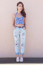 Boyfriend-jeans-yesstyle-jeans-floral-print-forever-new-top