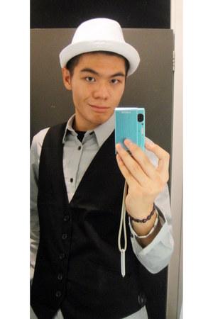 satin H&M vest - cotton H&M hat - cotton H&M shirt