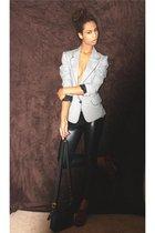 I MADE IT blazer - Viktor Victoria leggings - coach purse - Forever 21 shoes