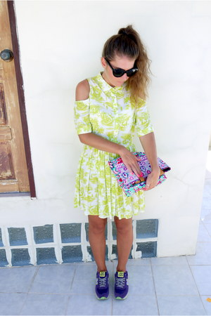 neon Topshop dress