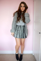 faux leather Primark skirt