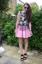 Glamorous top - Topshop skirt
