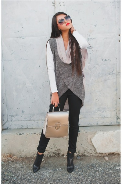 sweater vest Yesstyle sweater - ankle boots Nine West boots