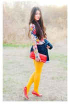 clutch Guess purse - navy Gap blazer - TJ Maxx shorts