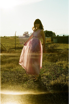 purple Hand Made dress