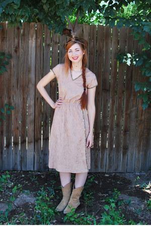brown 1970s foxmoor dress
