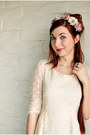 Ivory-lace-miss-chevious-dress-pink-flower-headband-kitten-paws-accessories