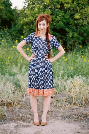 blue Serbin designed by Muriel Ryan dress