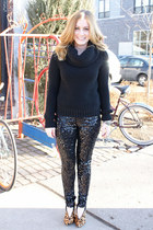 black Buffalo Exchange pants - black Buffalo Exchange sweater
