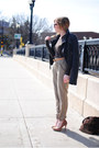 Nude-aldo-shoes-navy-a-f-jacket-dark-brown-levis-purse-olive-green-h-m-pan