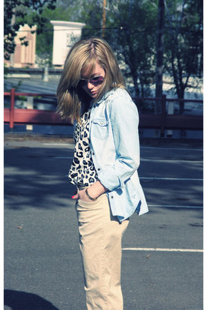 American Eagle shirt - Target blouse - vintage pants - Urban Outfitters shoes