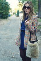 vintage blazer - vintage bag - Vintage DVF dress