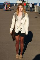 Gee WaWa shoes - vintage cardigan - Forever21 blouse - NYC shorts