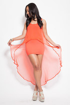 carrot orange Klassiq dress