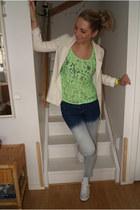 Converse shoes - H&M blazer - GINA TRICOT t-shirt - Zara pants