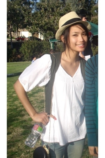 Urban Outfitters purse - H&M accessories - American Rag blouse - Forever21 vest