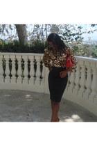 nicole lee bag - knee length Bebe skirt - Bebe top