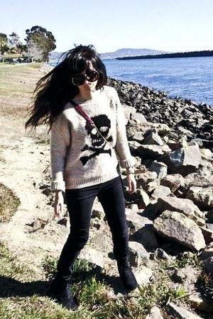 Topshop sweater - BDG jeans - Rebecca Minkoff purse