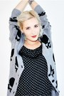 Heather-gray-skull-gina-tricot-cardigan-black-polka-dot-new-yorker-romper