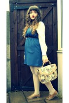 Newlook bag - Topshop dress - vintage shirt