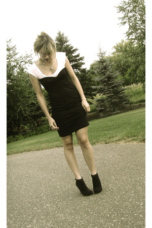 black American Apparel dress - black Steve Madden shoes