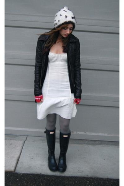 black Hunter shoes - white Self Made dress - white hat