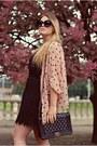 Black-lace-h-m-dress-peach-atmosphere-cape