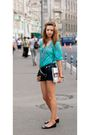 Blue-no-brand-shorts-black-accessorize-purse-green-no-brand-blouse-beige-f