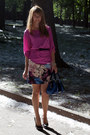 Blue-karen-millen-bag-light-pink-karen-millen-skirt-bubble-gum-zara-top