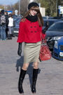 Black-el-monte-boots-green-karen-millen-dress-red-halhuber-coat-red-karen-
