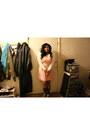 Peach-rue-21-dress-ivory-soft-flowy-rue-21-shirt
