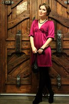 hot pink Forever21 dress - gray Centro necklace