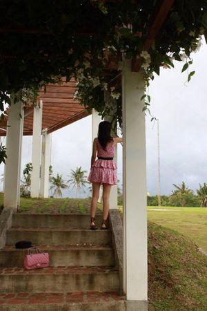 pink Zara dress - black Zara dress - brown Flats and Tie shoes - pink Chanel bag