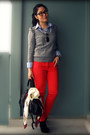 Black-dolce-vita-shoes-red-h-m-jeans-heather-gray-h-m-sweater-blue-striped