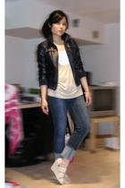 H&M t-shirt - H&M jacket - Forever21 jeans - H&M shoes - H&M accessories