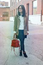 black Mossimo boots - camel Zara jacket - off white Joe Fresh sweater