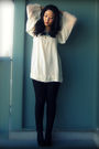 White-mango-blouse-black-uniqlo-jeans-black-jeffrey-campbell-shoes-blue-fo
