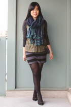 teal Brianne Faye scarf - army green Old Navy vest - gray Old Navy top