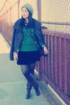 black leather Mackage jacket - dark brown Report boots