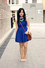 Blue-american-apparel-dress-brown-vintage-bag-aquamarine-oasapcom-necklace