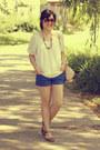 Blue-h-m-shirt-beige-h-m-bag-brown-aldo-sunglasses-dark-brown-aldo-sandals