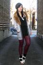 Red-asos-tights-black-forever-21-dress-white-calvin-klein-cardigan-white-f