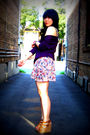 Purple-nation-ltd-top-pink-zara-skirt-brown-aldo-shoes