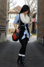Black-vest-blue-gap-shirt-gray-bluenotes-top-white-h-m-scarf-black-aldo-